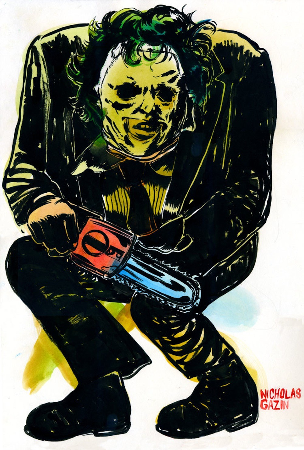 Gallery of Horrors: Original Art Inspired by TEXAS CHAINSAW 3D In Theaters Jan 4