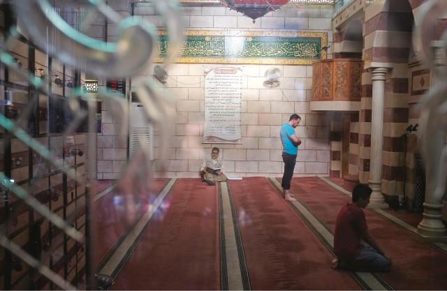 Une mosquée, dans la vieille ville de Damas.