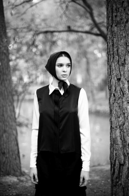 Teresa: Cămașă și rochie Paolo Coppolella, batic Out-In.Vintage