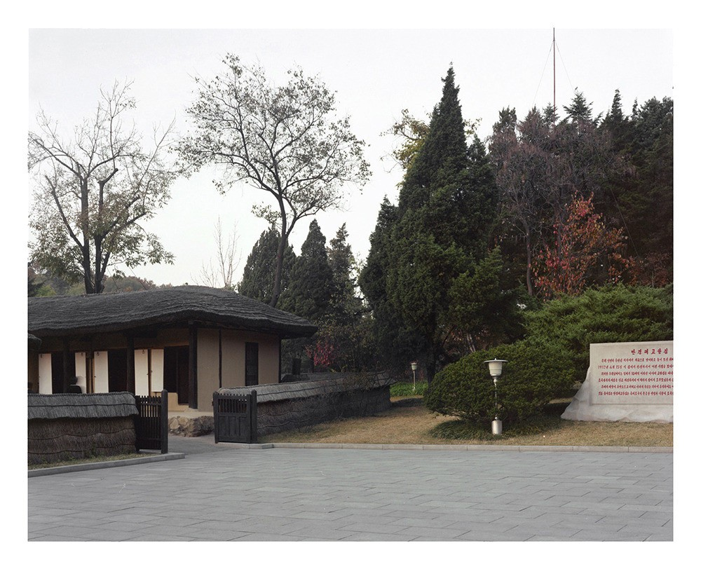 Kim Il Sung's birth house in Mangyongdae-Guyok which considered North Korea's most sacred place