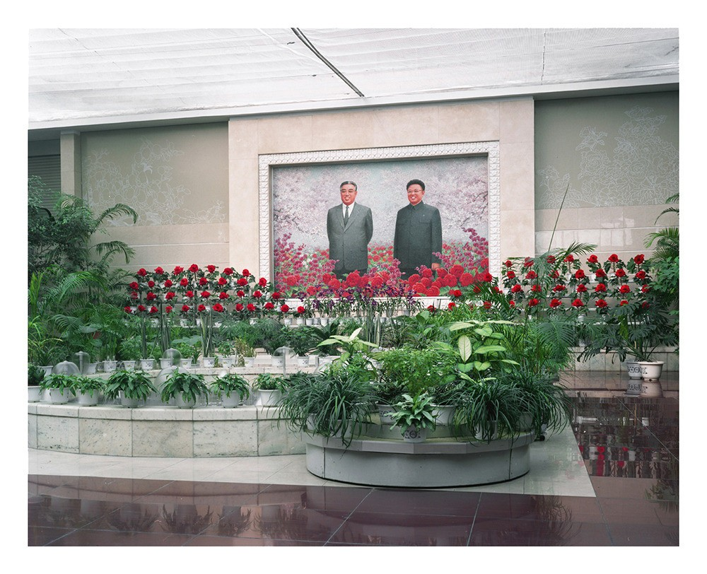 Pyongyang's national flower exhibition displaying the Kimilsungia and the Kimjongilia, the DPRK's national flowers.