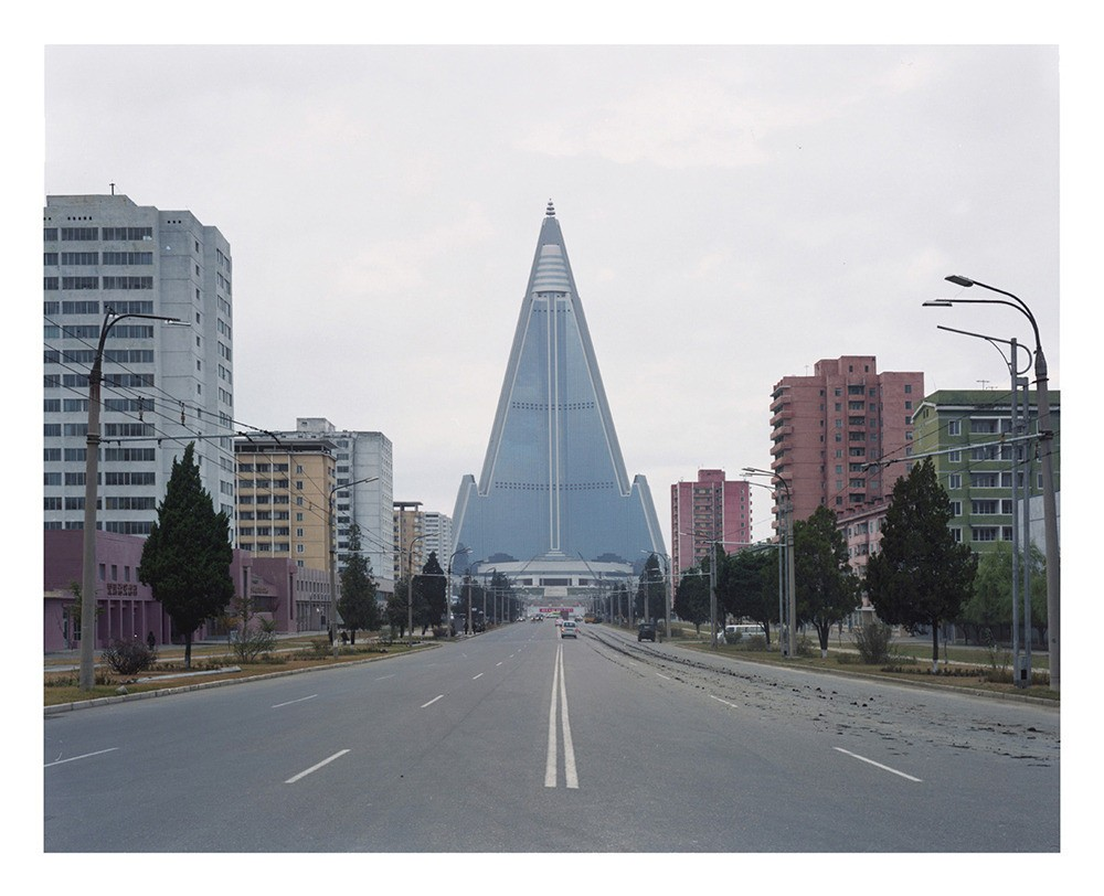 The Ryugyong Hotel with a height of 330 meters, is by far the largest structure in North Korea. The construction began in 1987 and is still ongoing.
