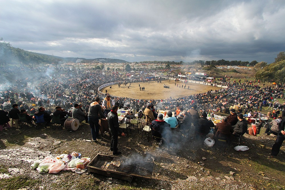 Thousands of spectators come to the arena to get drunk and watch two beasts wrestle each other.