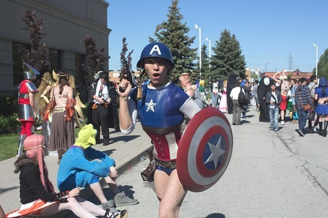 """I'm Captain America, but, like, a sexy, super gay version."""