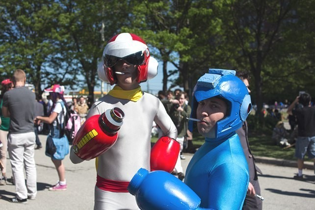 "Megaman and Protoman smoke cigarettes. I asked for their real names and they offered Megaman and Protoman. When I asked about their costumes, Megaman replied: ""What costumes?"""