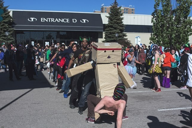 Daytime rave at Anime North.