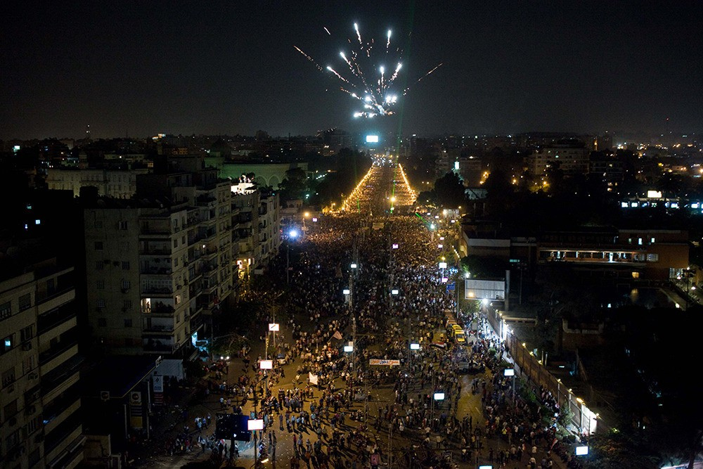 View of the presidential palace from Al Nadi street on June 30.