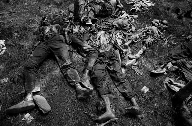 One of the multitude of murder sites just north of Kigali. Rwanda 1994.
