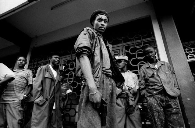 Civilian militia south of Kigali. Rwanda 1994.