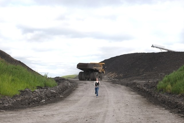 Steph at Westray Coal Mine, New Glasgow, June, 2011