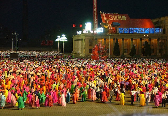 Pyongyang Square Party. Photo by Pier Luigi Cecioni
