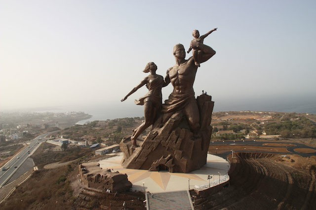 The African Renaissance Monument in Senegal. Photo by Christophe Blitz