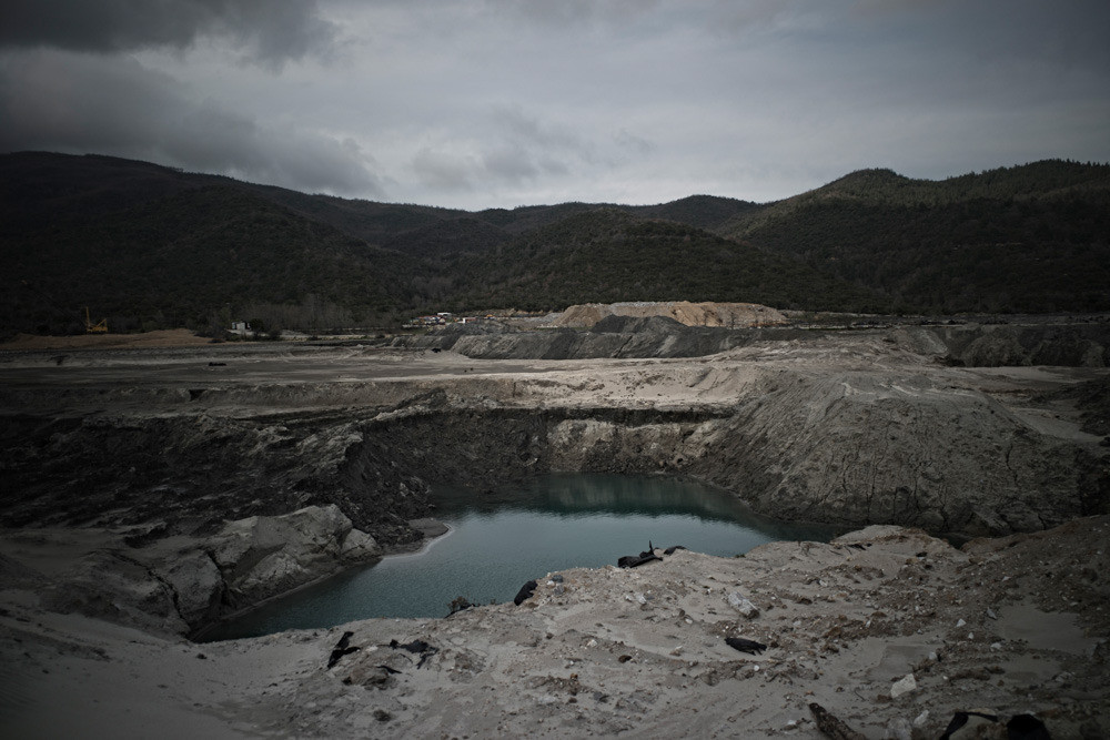 In northeastern Chalikidiki, the water supply system is unfit to use because of the high concentration of arsenic. Cyanide coming from three mines—Madem-Lakko, Mavres Petres, and Olympiada—is threatening the water reserves. Twenty-seven inhabitants are facing charges and imprisonment for forming a criminal organization because they protested the current and future pollution against the companies Hellenic Gold and Eldorado Gold, who have a projected 13 billion Euros ($17.85 billion) profit from mining in the area.