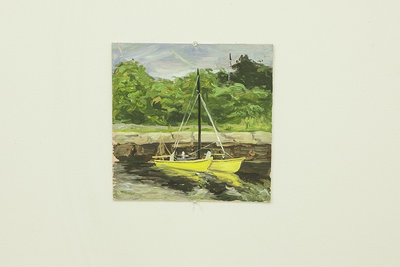 """2 Yellow Boats"" by Jordan Casteel"