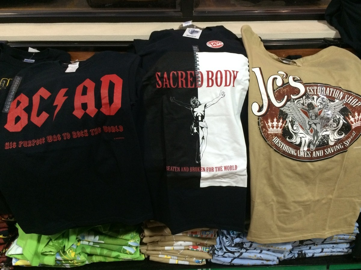 Classic Jesus-related merch at a truck stop