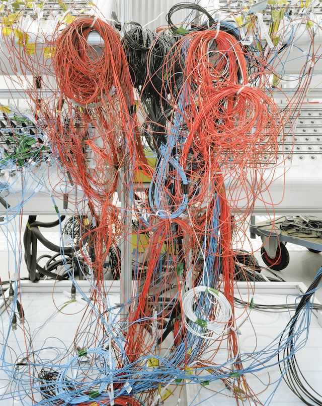 Cabling used during the testing of ESA's BepiColombo spacecraft (ESA—ESTEC, Noordwijk,the Netherlands)