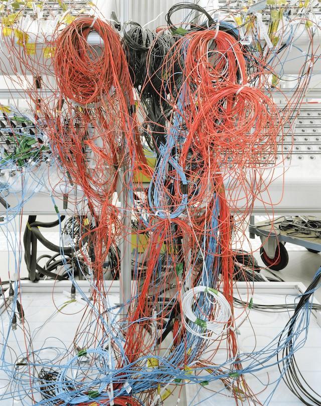 Cabling used during the testing of ESA's BepiColombo spacecraft (ESA—ESTEC, Noordwijk,the Netherlands)