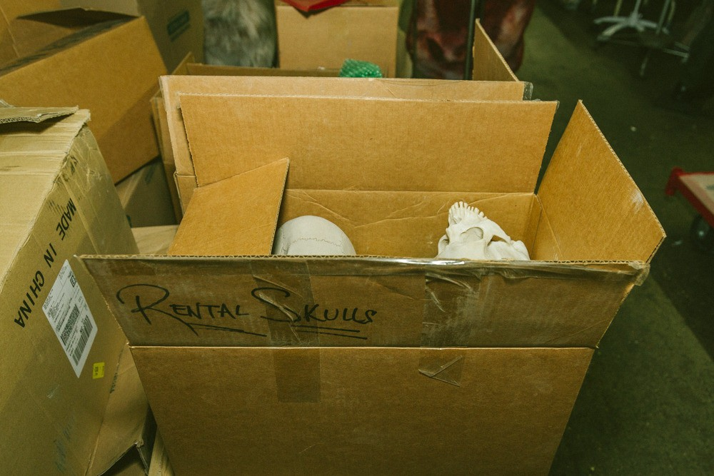 The rental skull box.