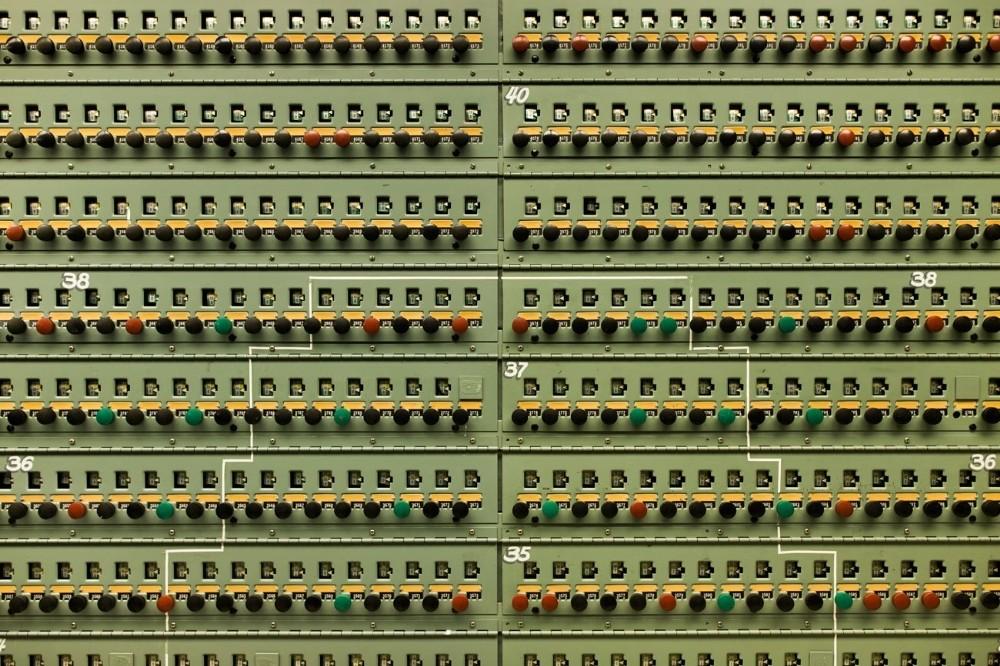 Ένας πίνακας ελέγχου πίεσης, που βρίσκεται μέσα στον κεντρικό θάλαμο ελέγχου του ιστορικού αντιδραστήρα Β, στο Hanford.